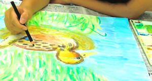 絵の課題を仕上げよう!!夏休みチャレンジアート