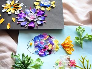 花びらで絵を描こう