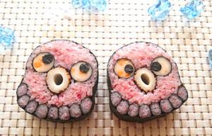 親子で飾り巻き寿司