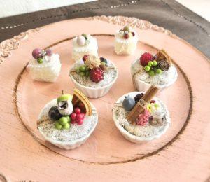 お花のミニタルトプチケーキ